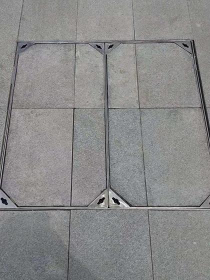 不锈钢井盖安装效果